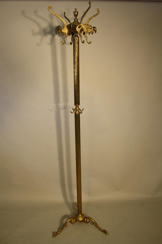 Gilt brass coat hook