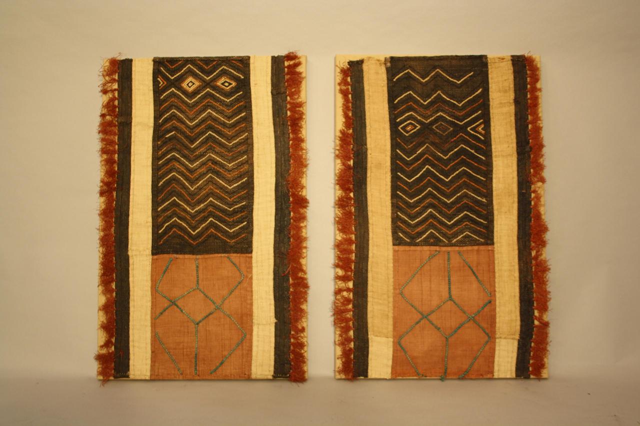 A pair of African Raffa Kuba textiles