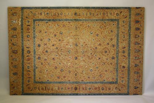 17th/18th C Turkish Ottoman metal thread panel