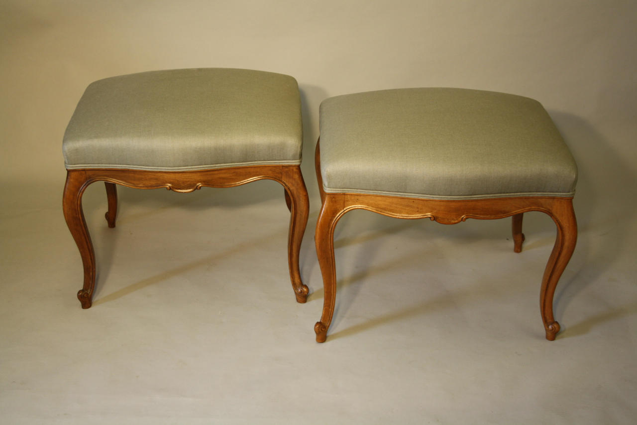 Pair of Walnut seats