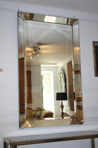 Rectangular 1950's Venetian mirror