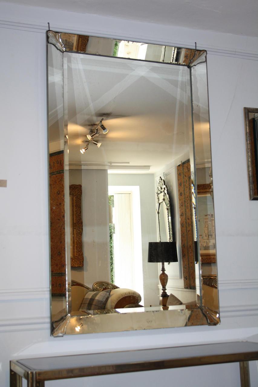 Rectangular 1950's Venetian mirror
