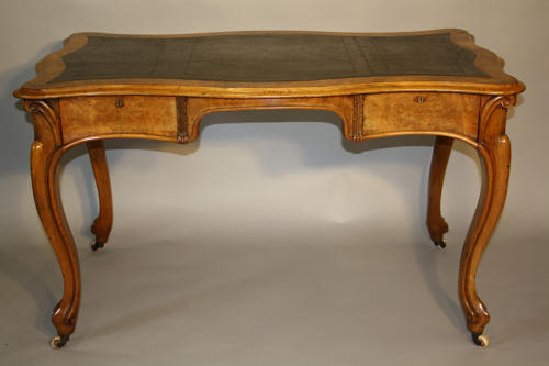 Victorian Burr Walnut desk