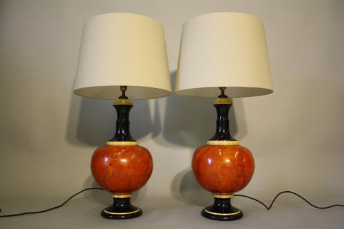 A pair of Jean Roger ceramic table lights