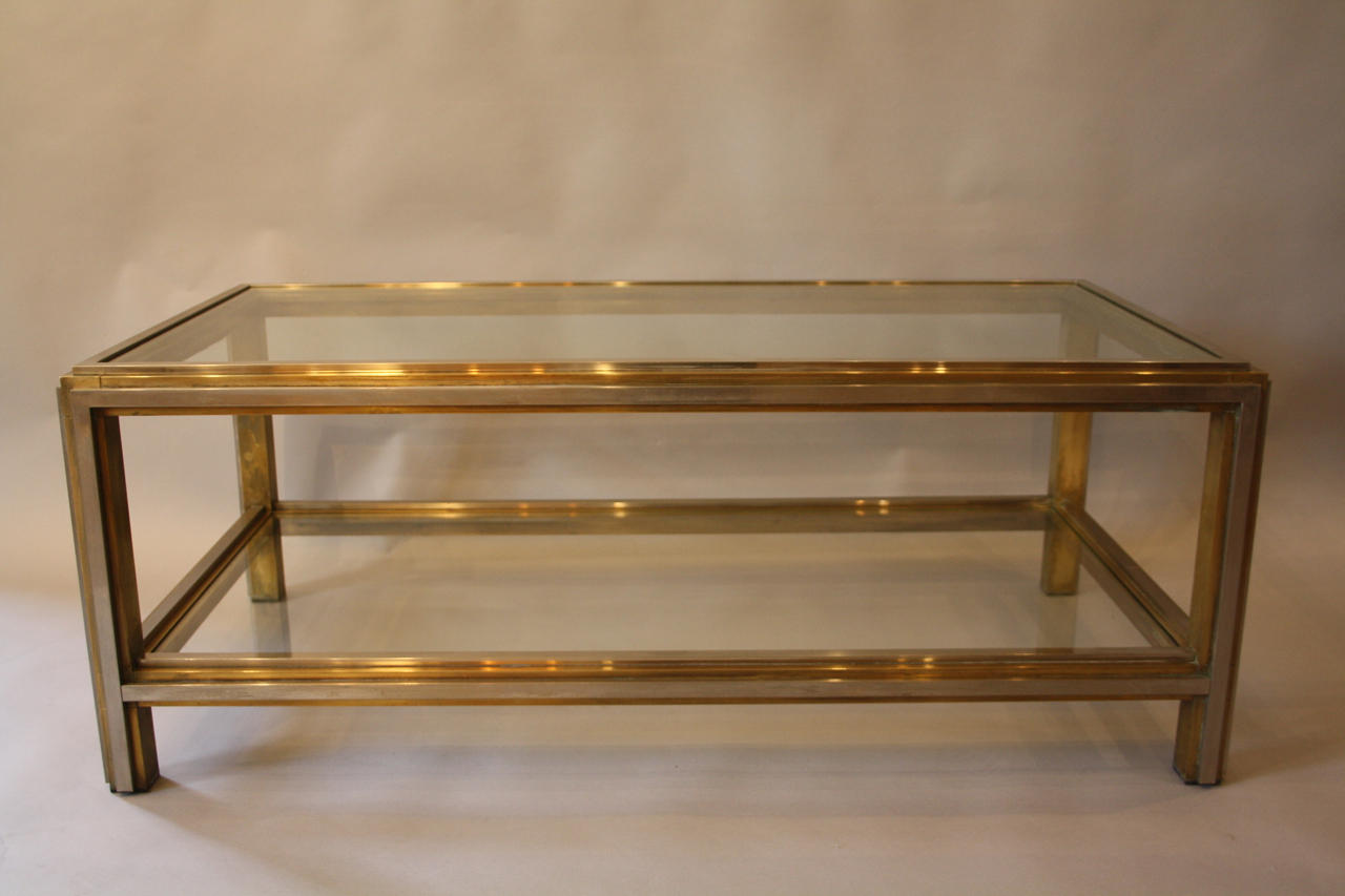 Two tier rectangular coffee table