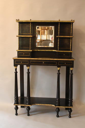 Ebonised and ormolu chiffonier
