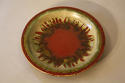 Red and green glazed charger - picture 1
