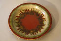 Red and green glazed charger - picture 2