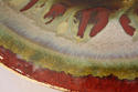 Red and green glazed charger - picture 5