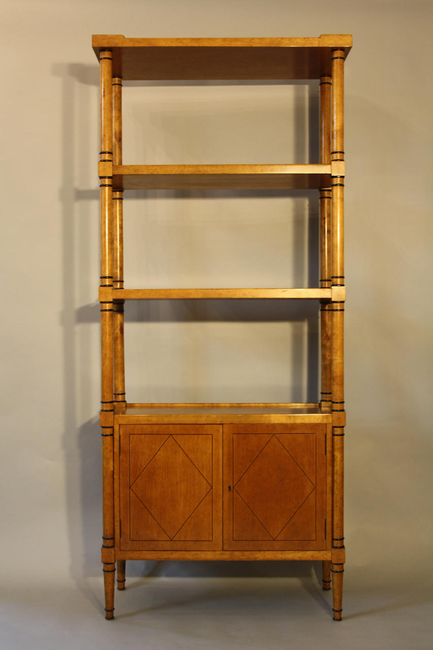 Biedermeier revival bookcase