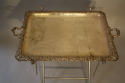 Victorian silver plated tray table - picture 6