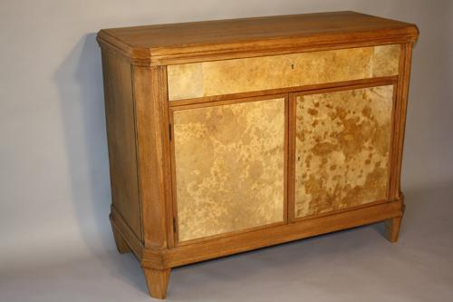 Parchment and Oak cabinet