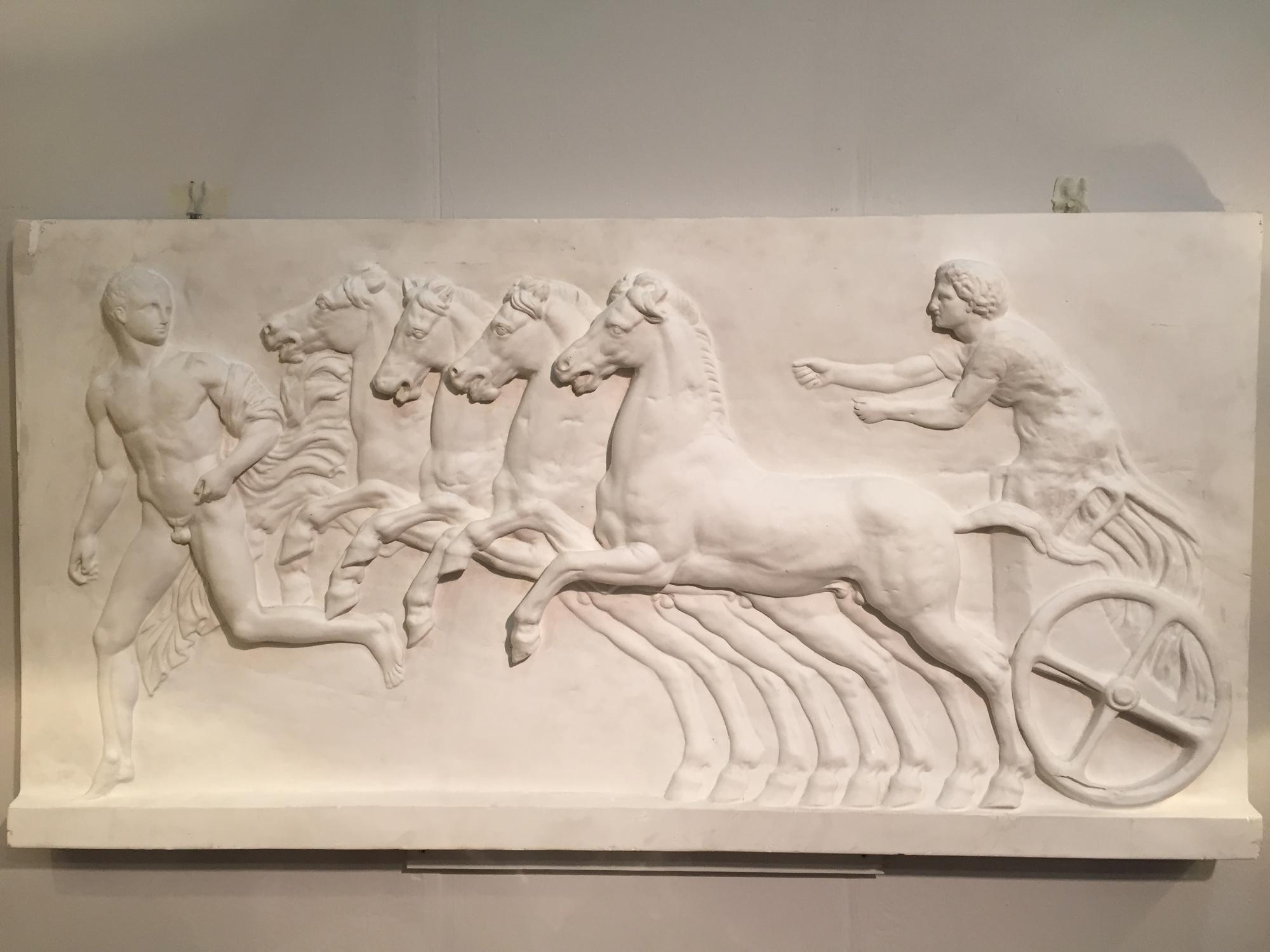 Large plaster relief plaque