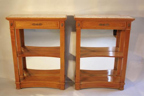 Pair of cherry wood bookcases