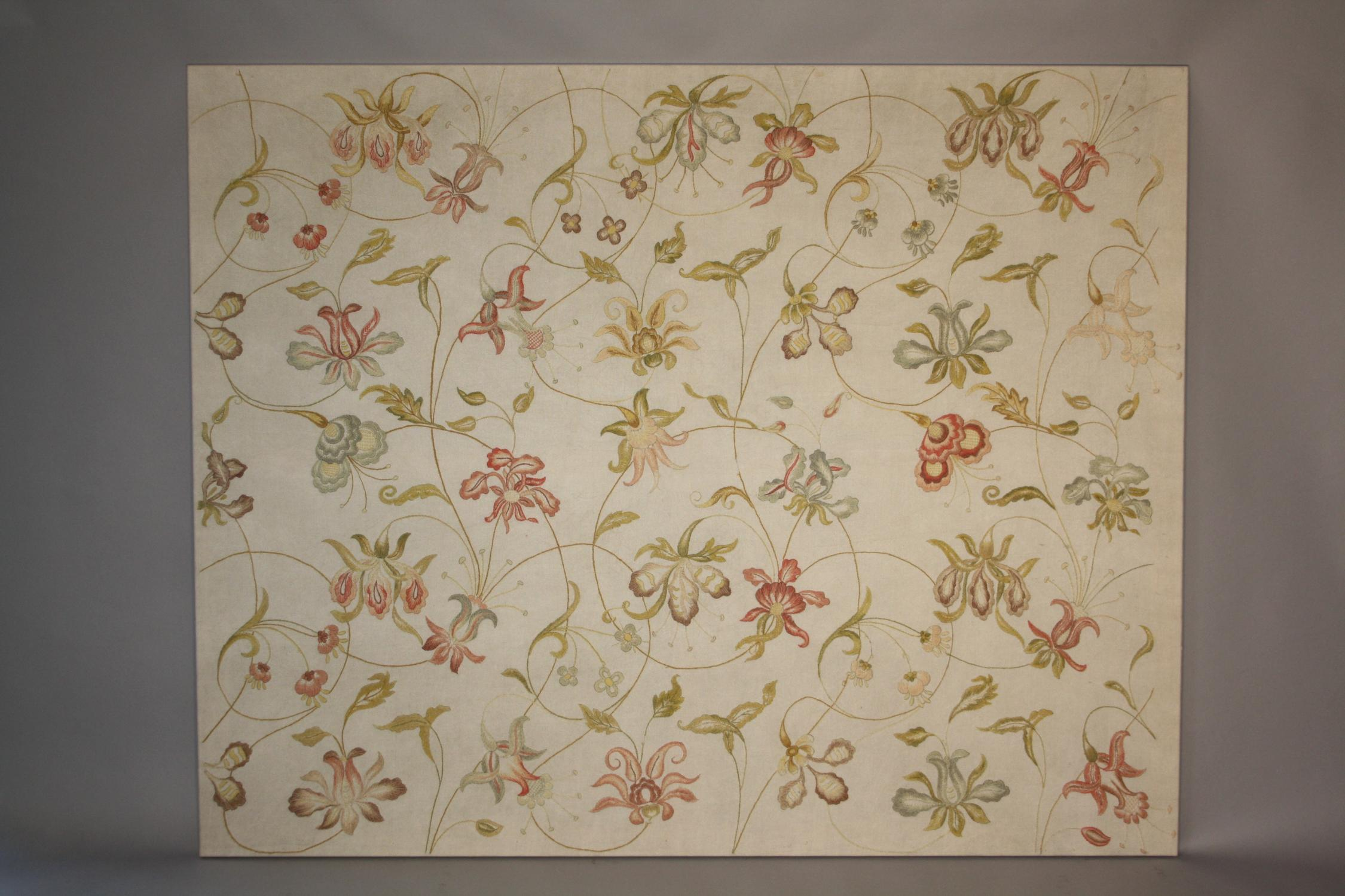 Crewel work textile