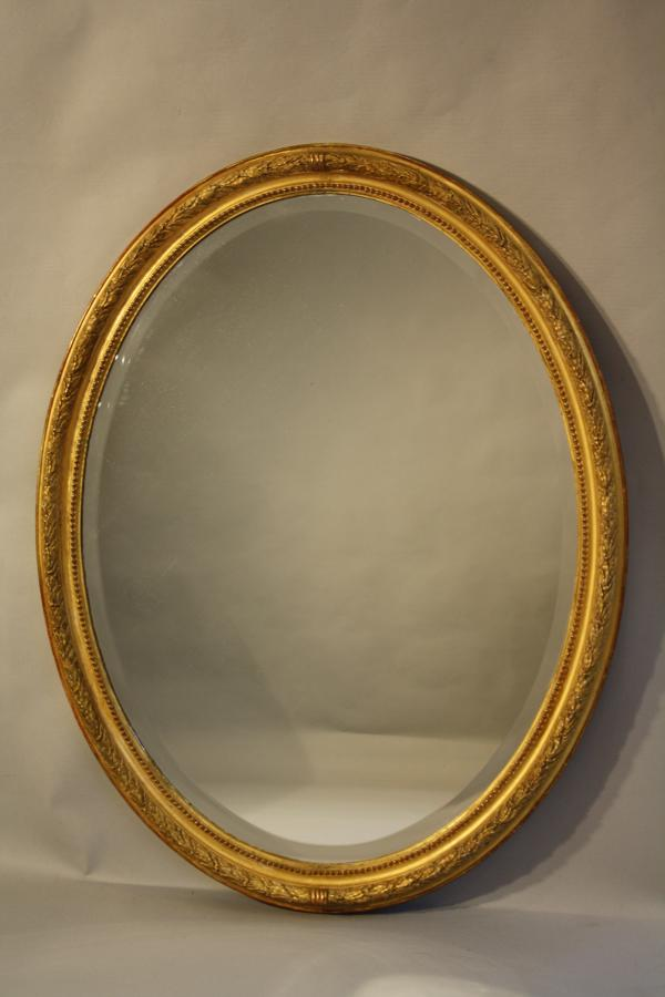 C19th Oval mirror