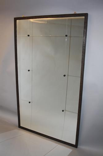 Hammered metal sectional mirror
