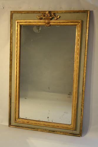 Parcel gilt French overmantle