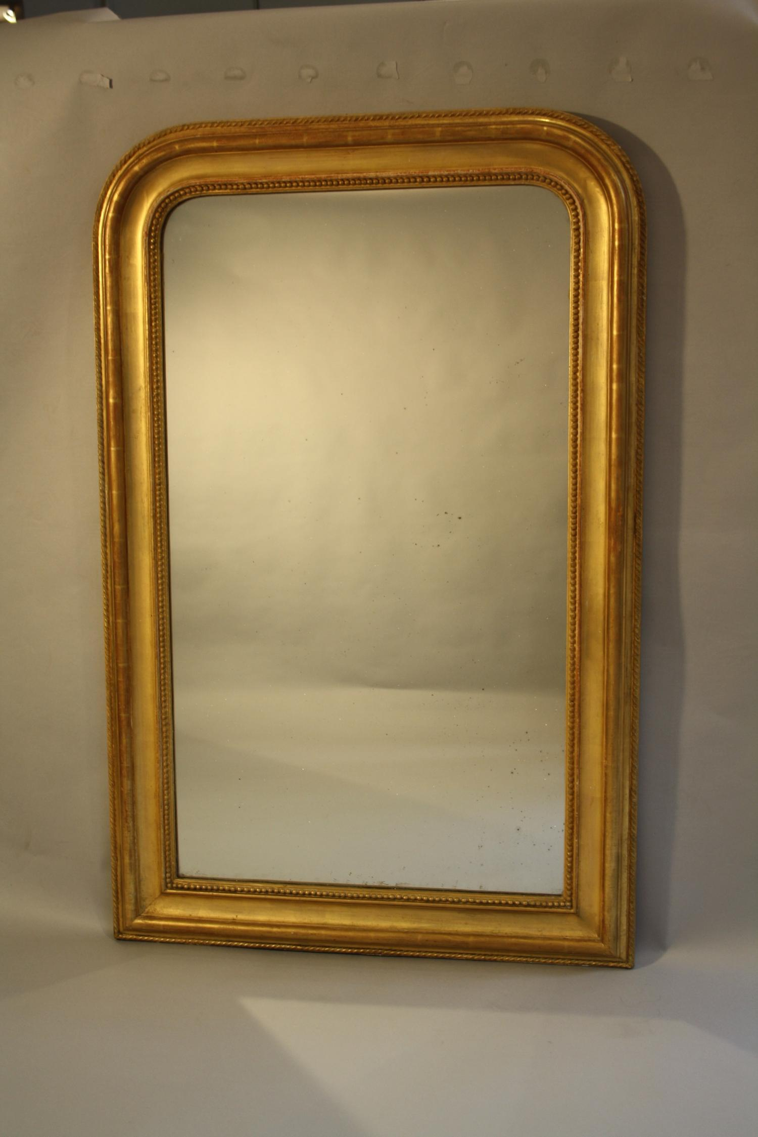 Soft gold gilt archtop overmantle