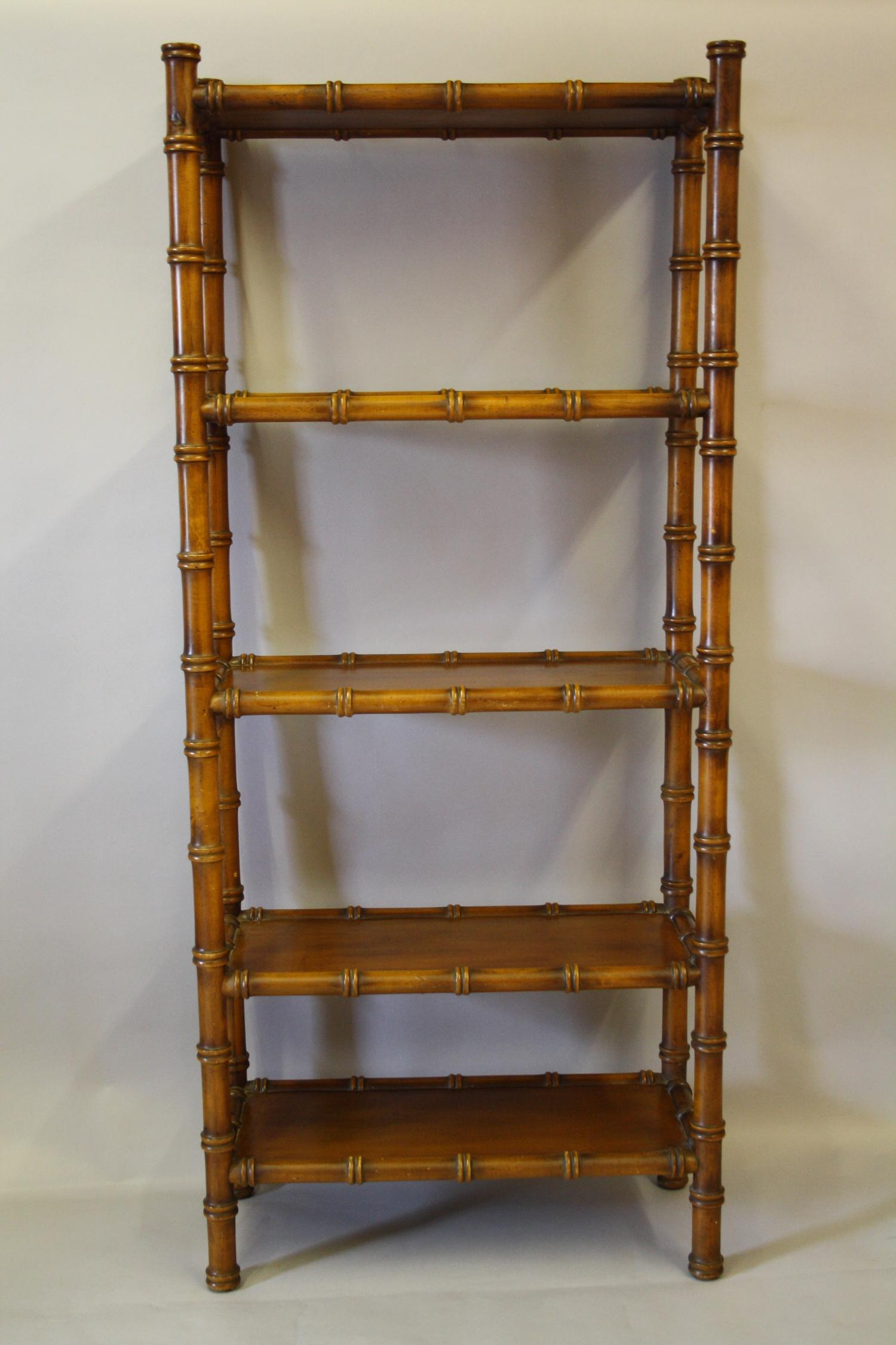 Valenti faux bamboo wooden shelves
