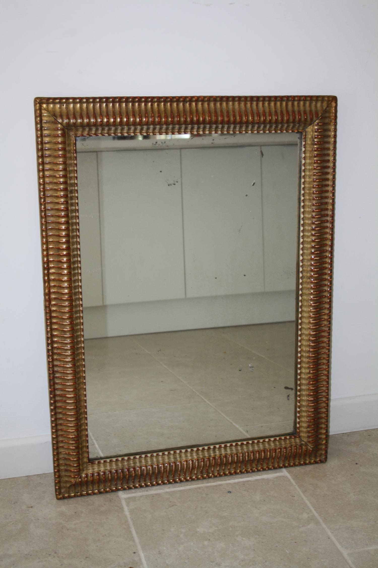 Ridge framed mirror