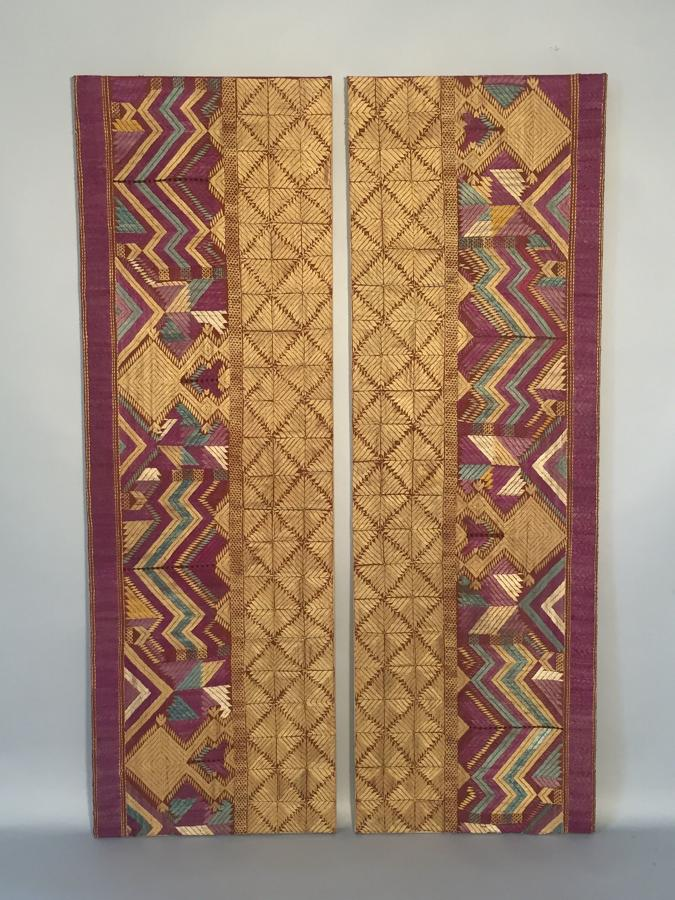 Pair of Pulkari textiles