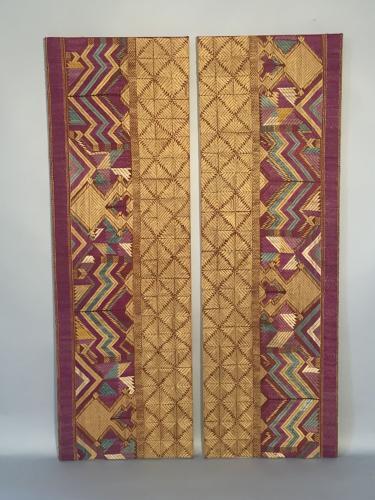 Pair of Pulkari textiles