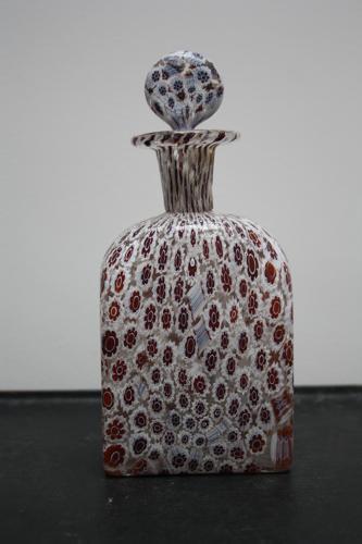 Millefiori Murano glass bottle