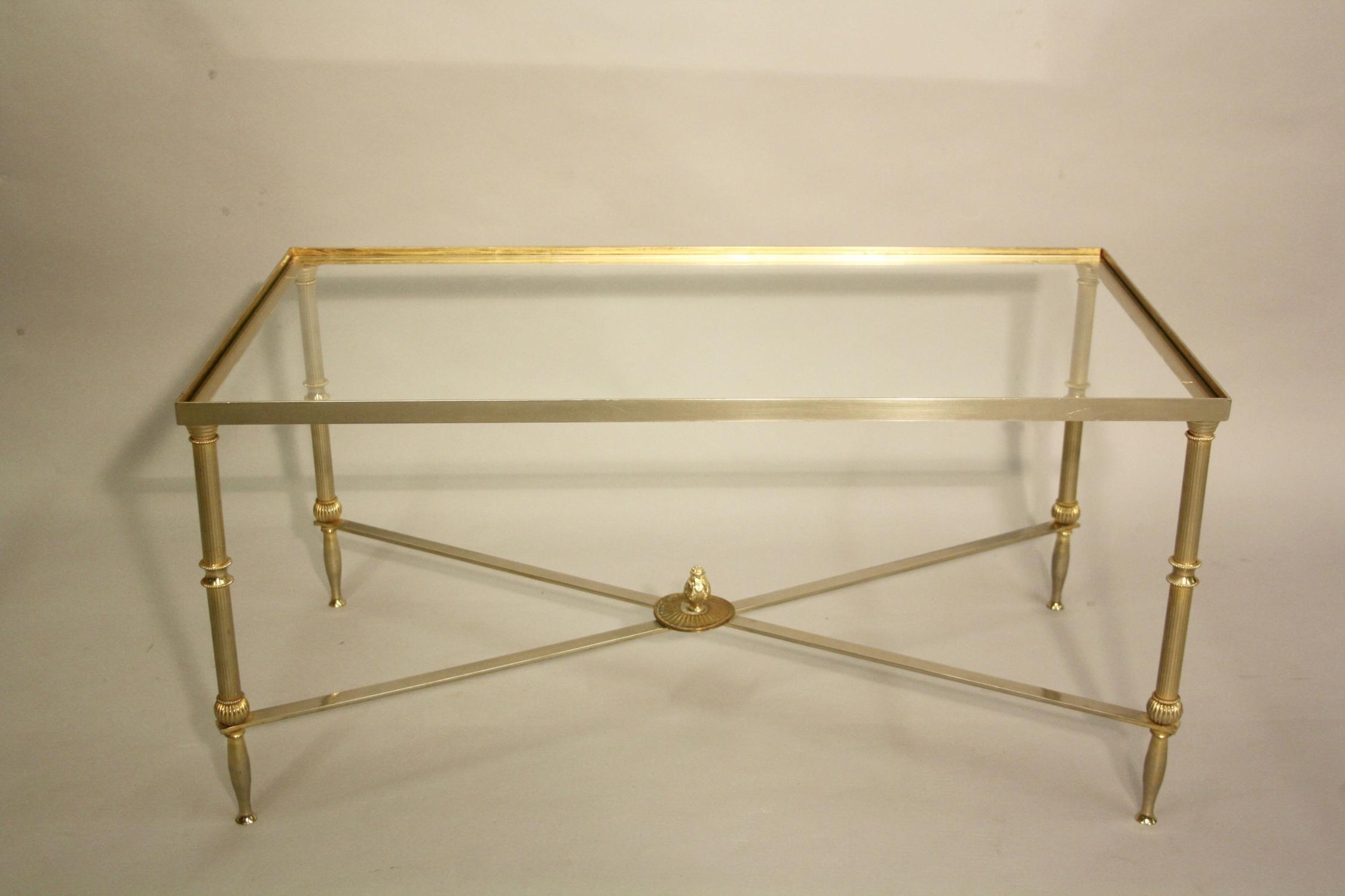 Silver and soft gold coffee table