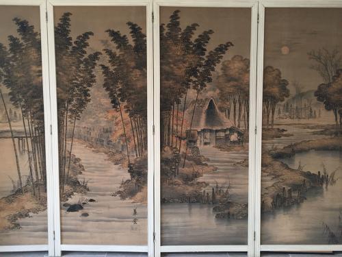 Japanese Yuzen screen