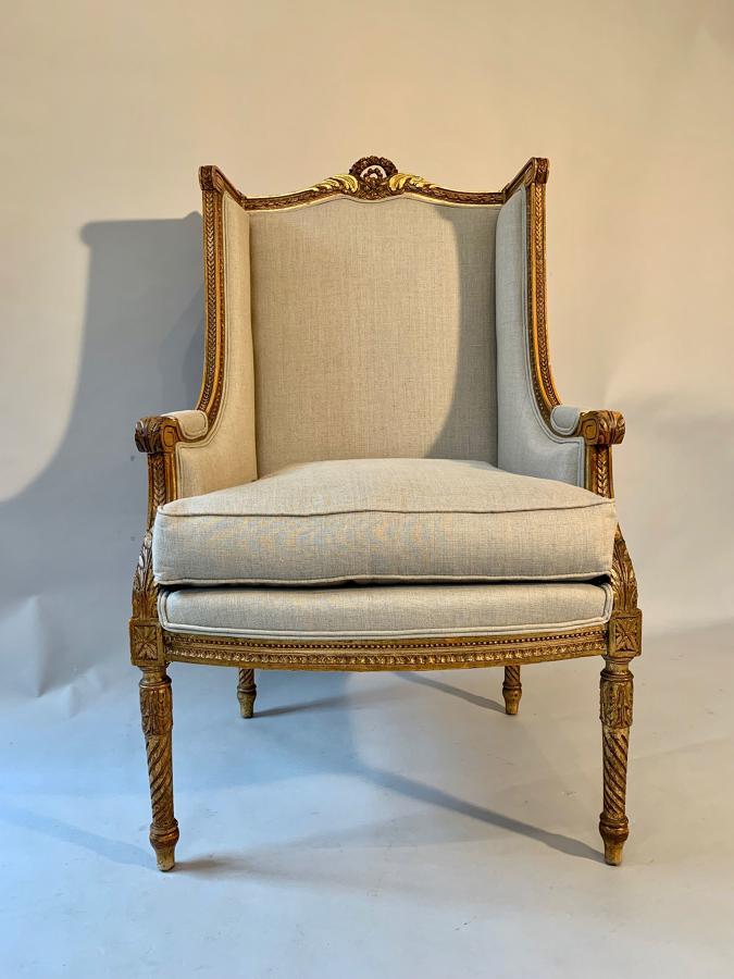 Giltwood fauteuil armchair