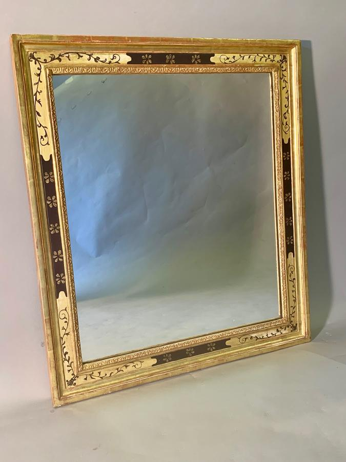 Gilt gesso rectangular mirror