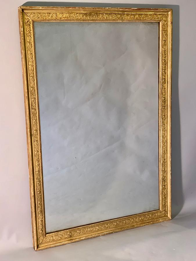 Large French Empire rectangular mirror