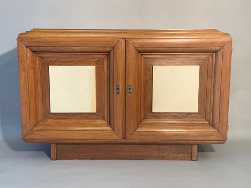 Oak and parchment cabinet