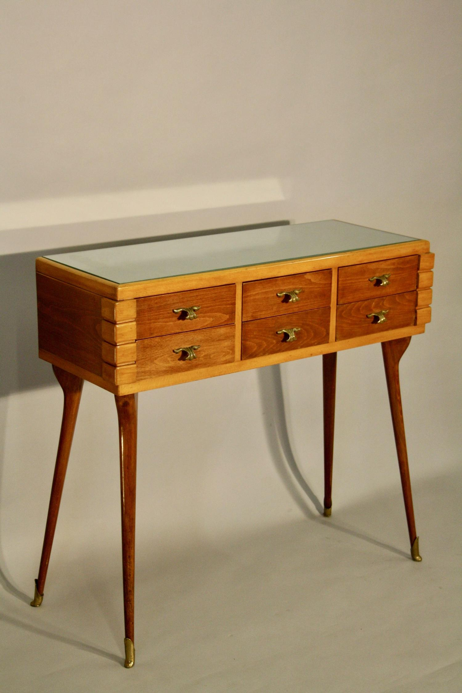 Italian six drawer console