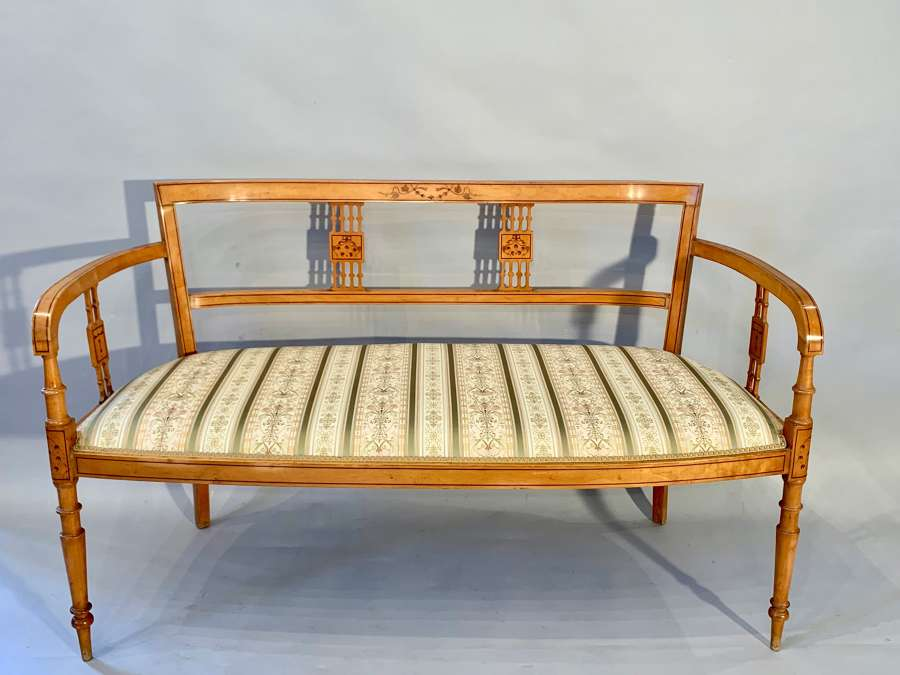 Pretty Italian inlaid marquetry sofa