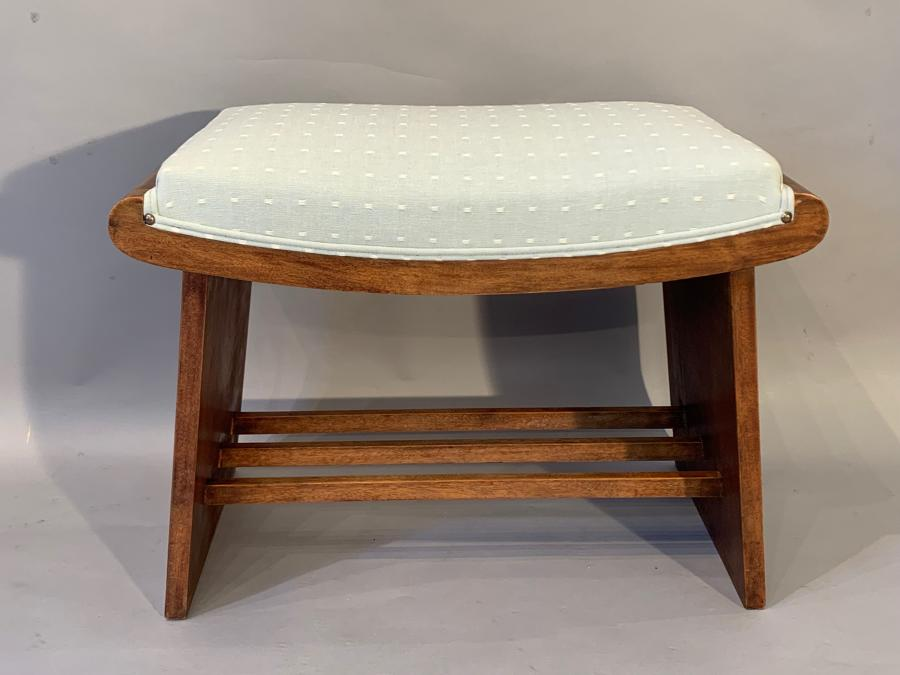 Walnut Art Deco seat