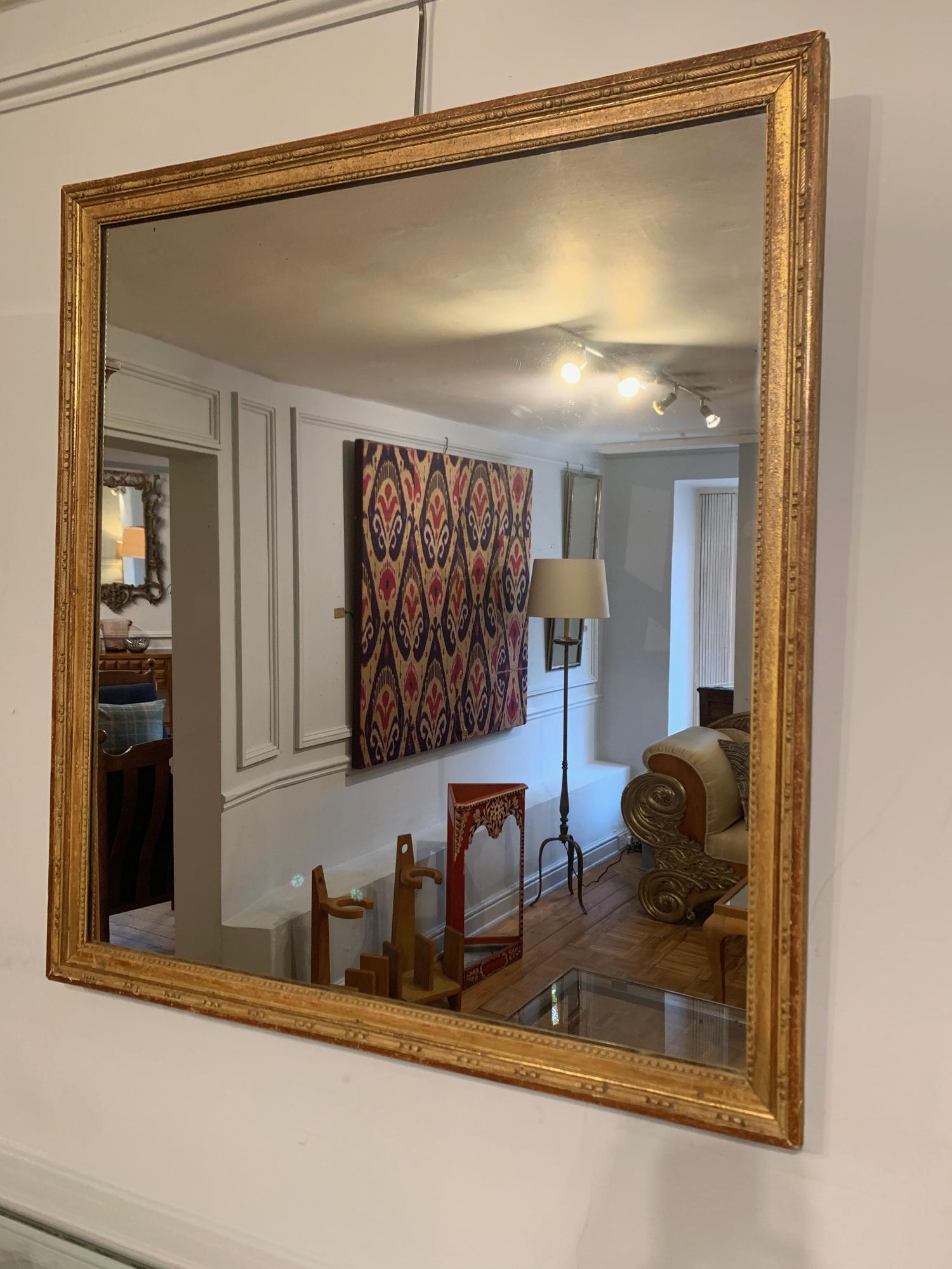C19th gilt gesso mirror