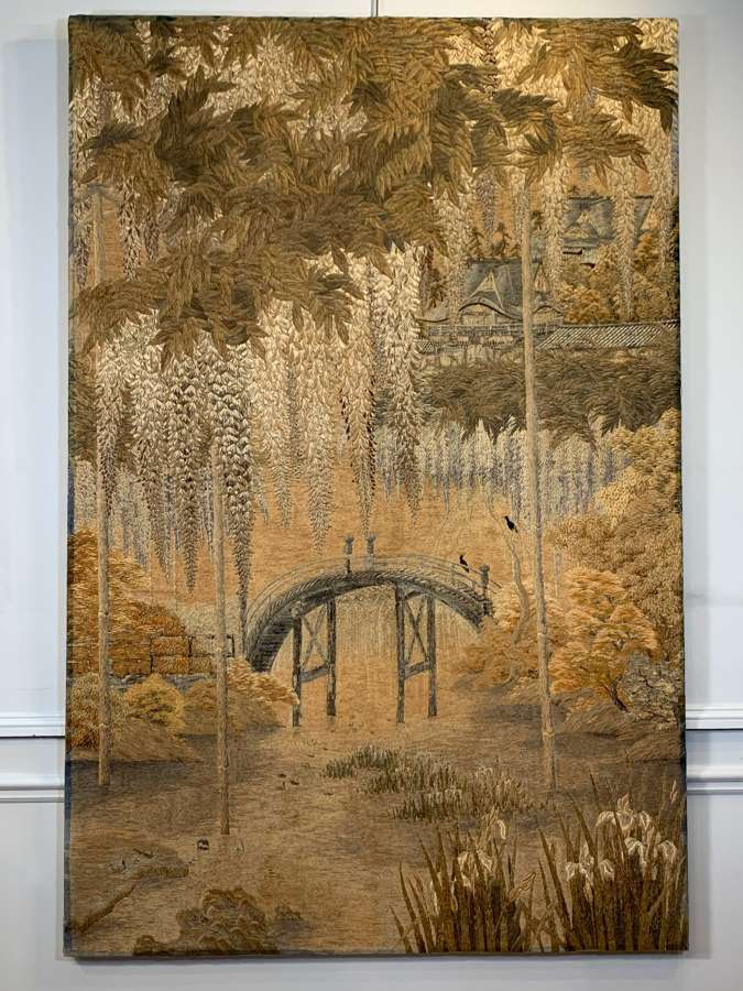 Japanese Meiji embroidery