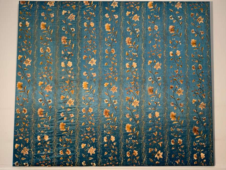 Exceptional Regency embroidered panel