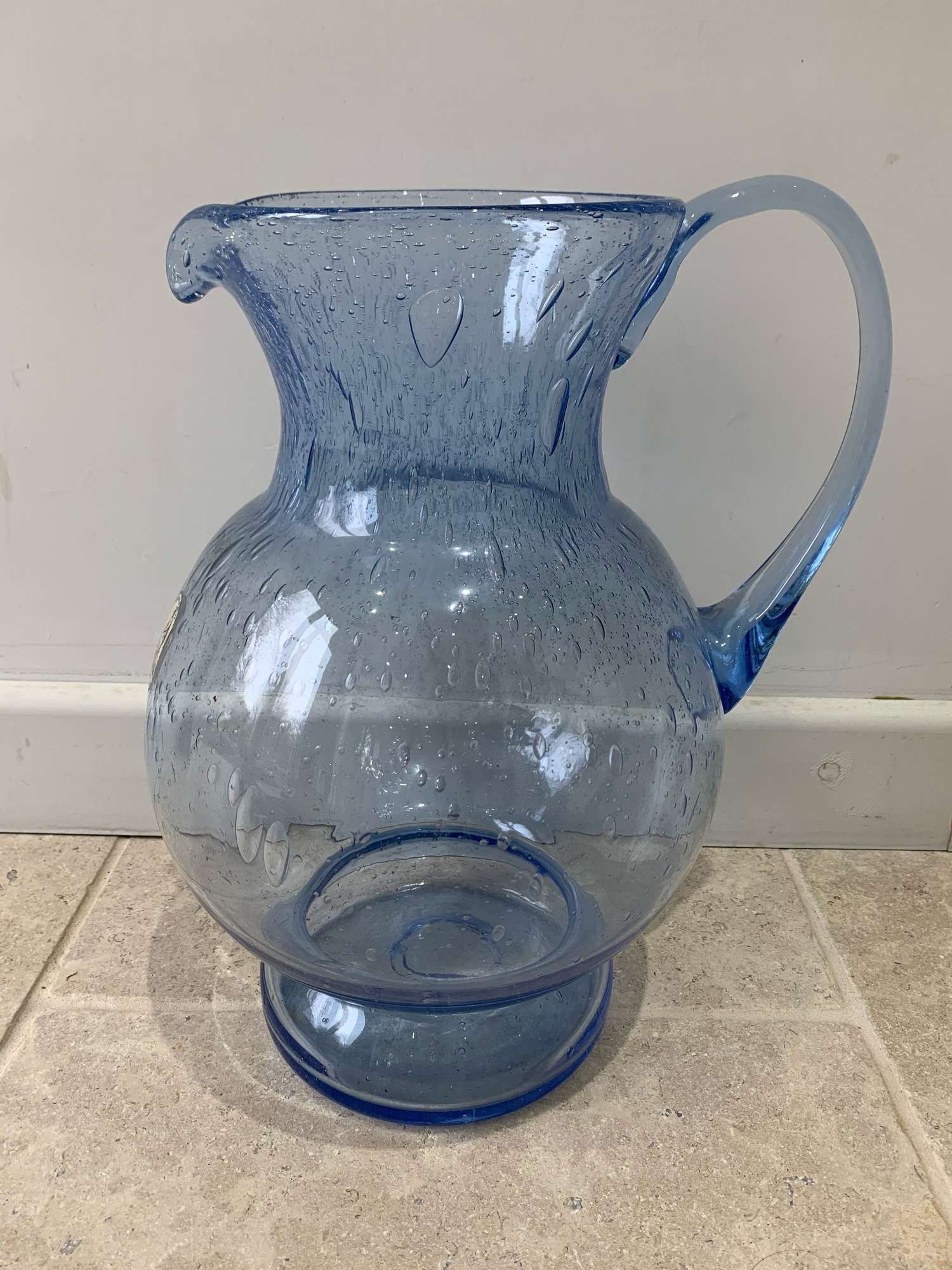 Large artisanal glass jug