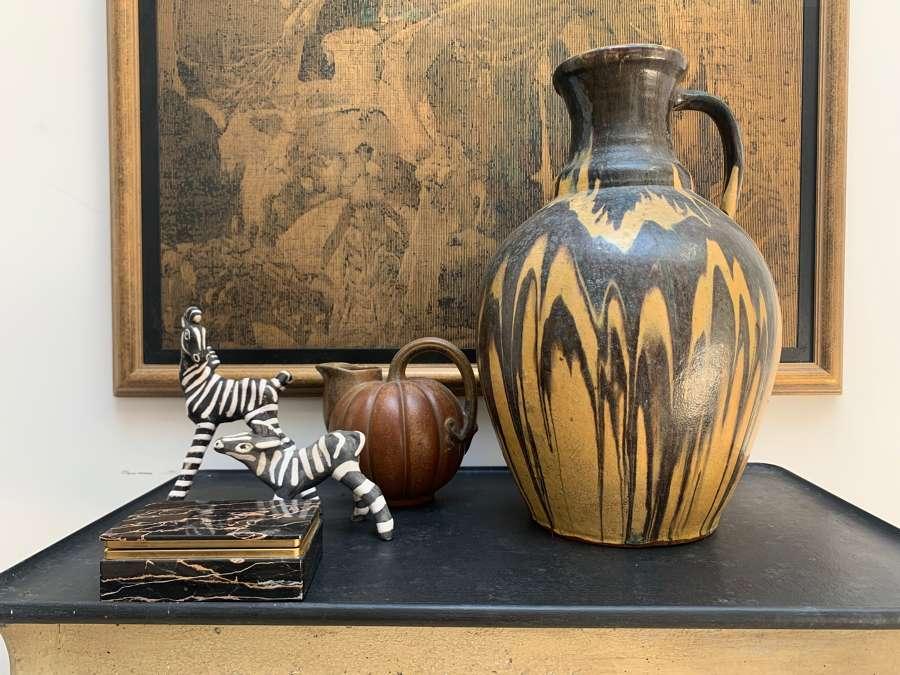 Large slipware vase