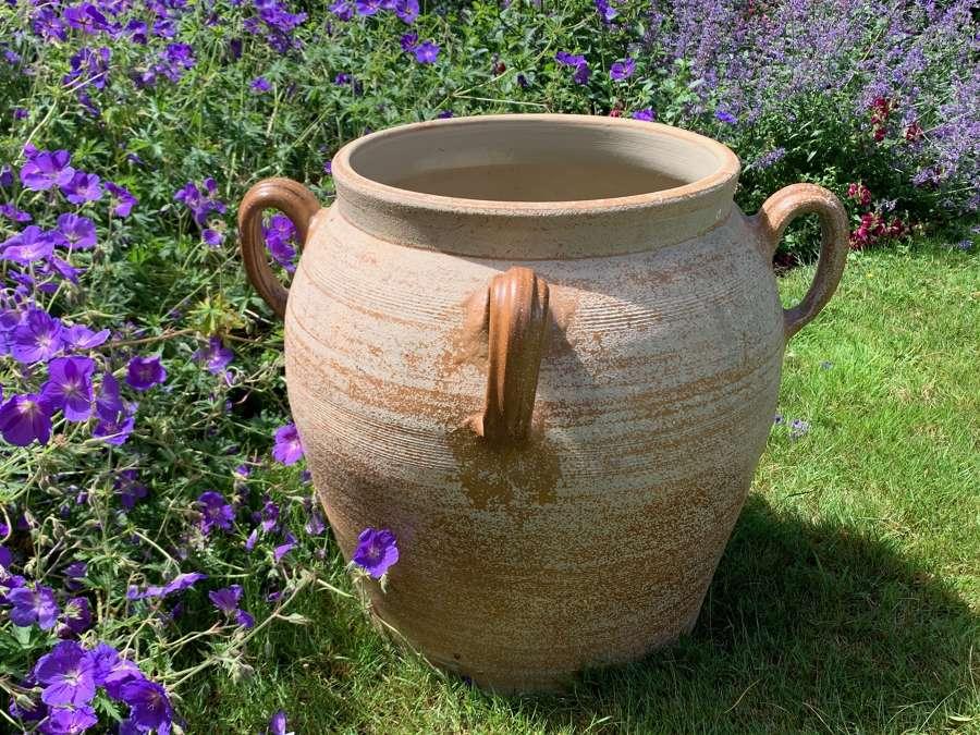 Extra large confit/preserve stoneware pot
