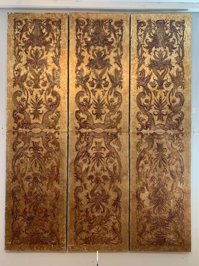 Hand tooled leather screen