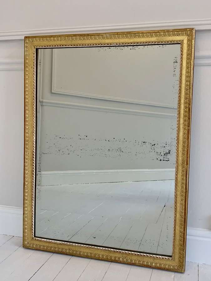 Lemon gilt mercury glass mirror
