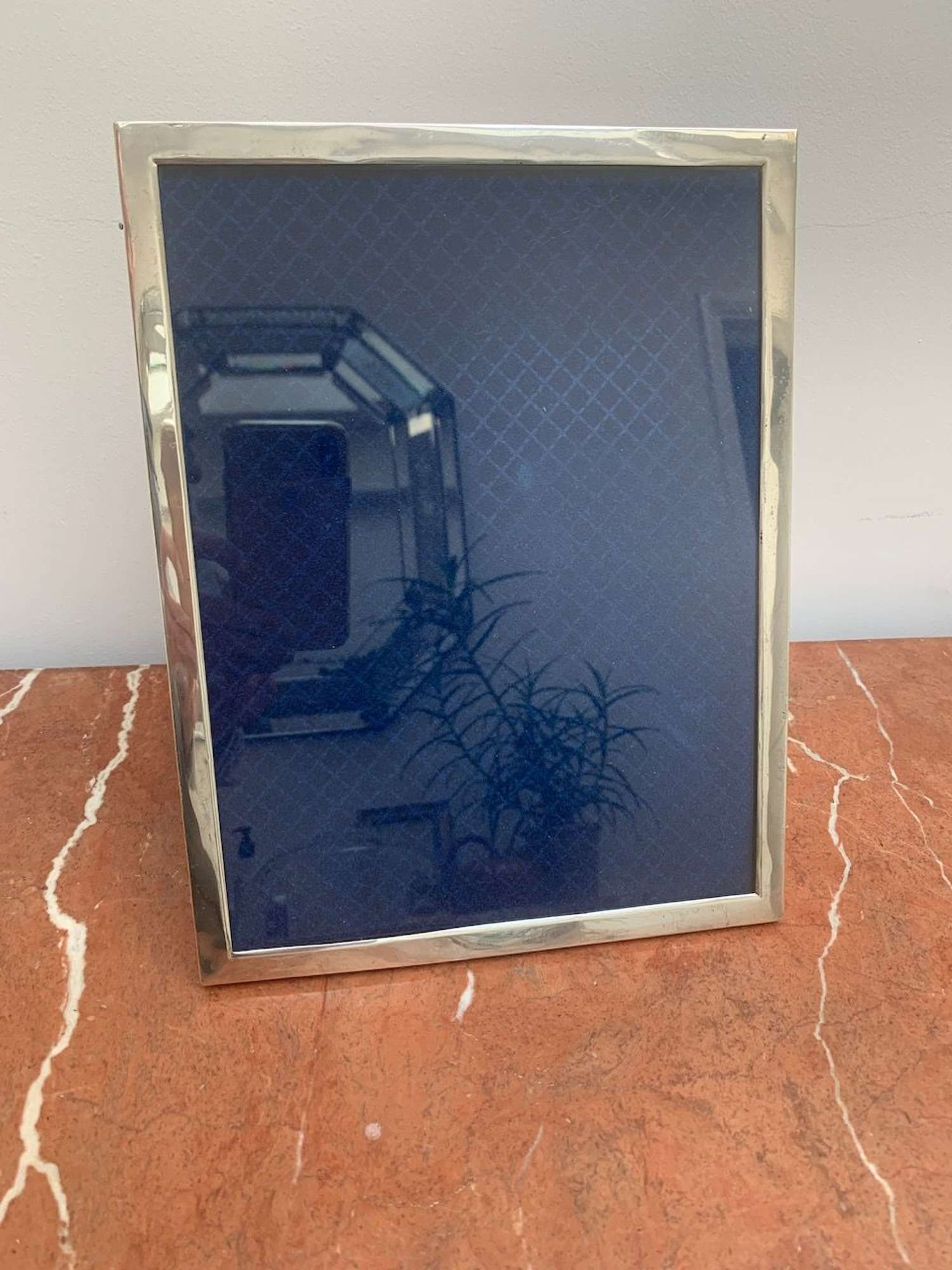 Large solid silver photo frame