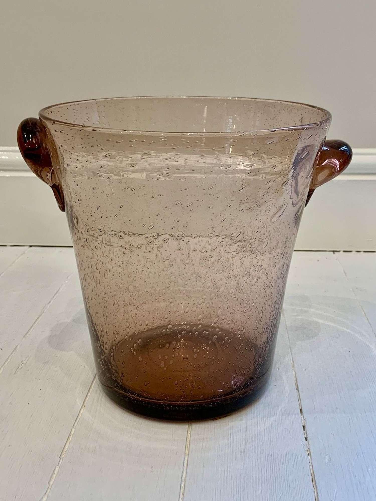 Biot glass vase/champagne cooler