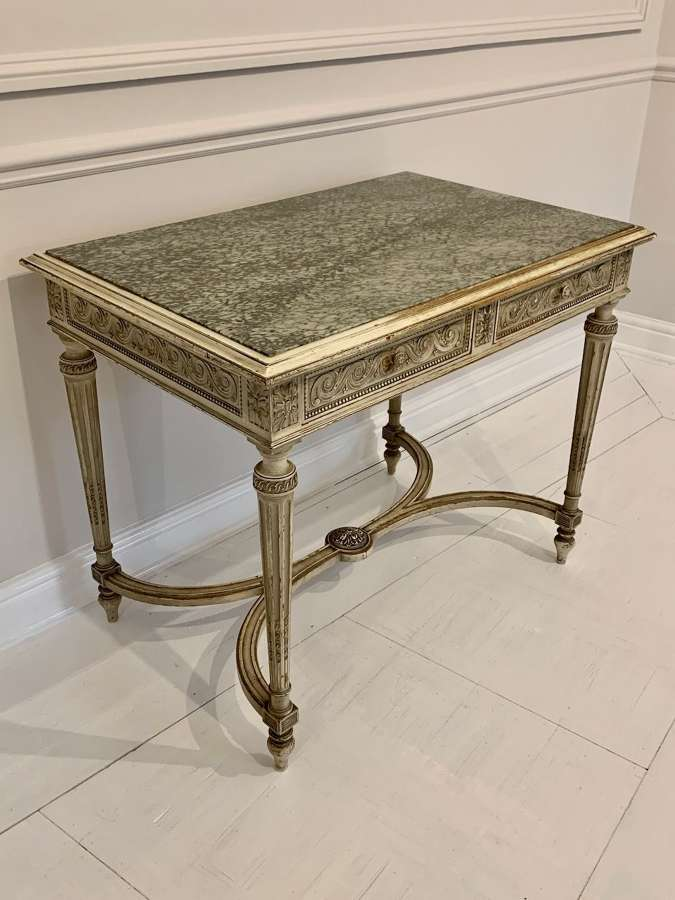 Pretty marble and carved wood table