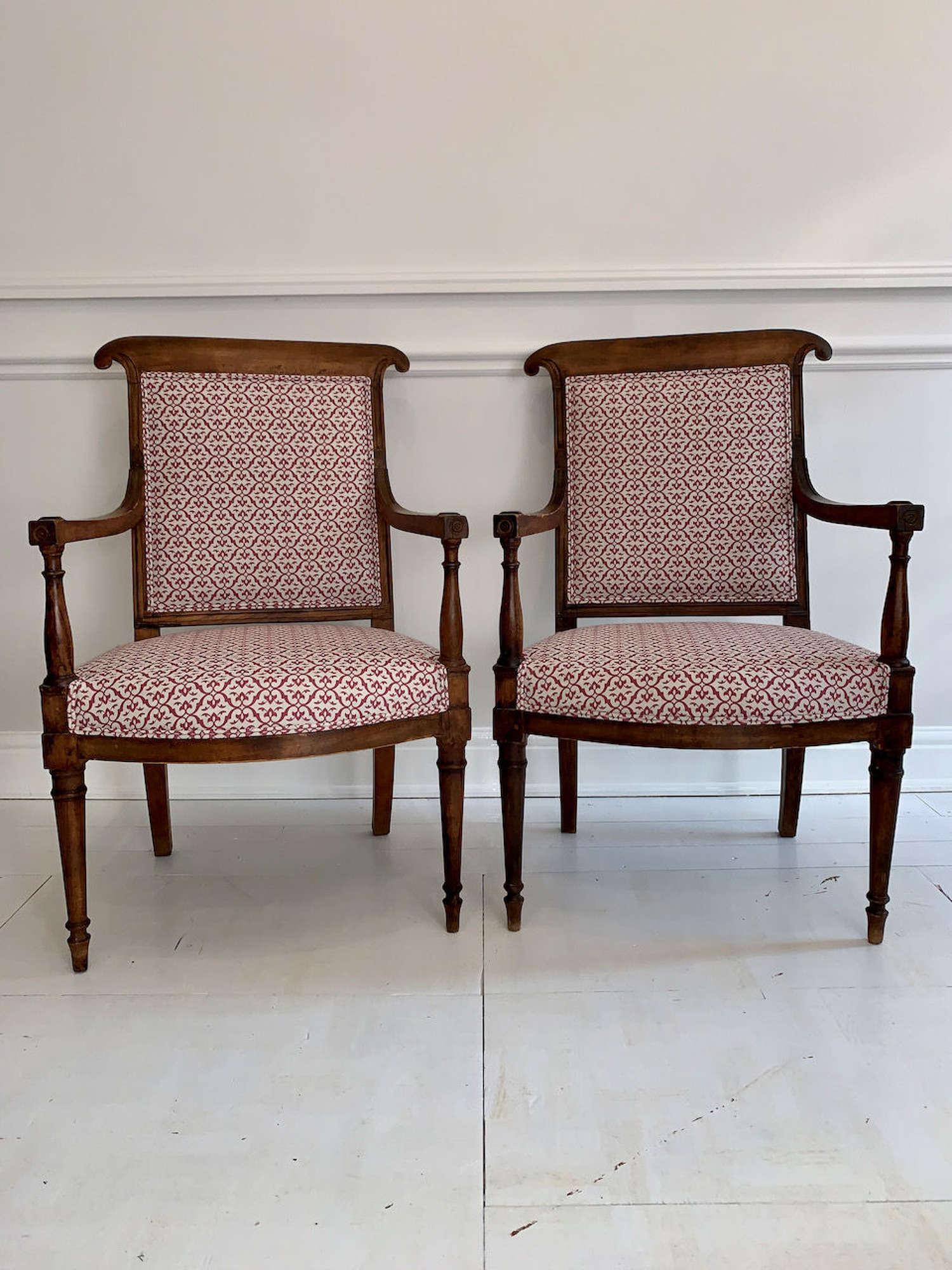 A pair of French Directoire chairs