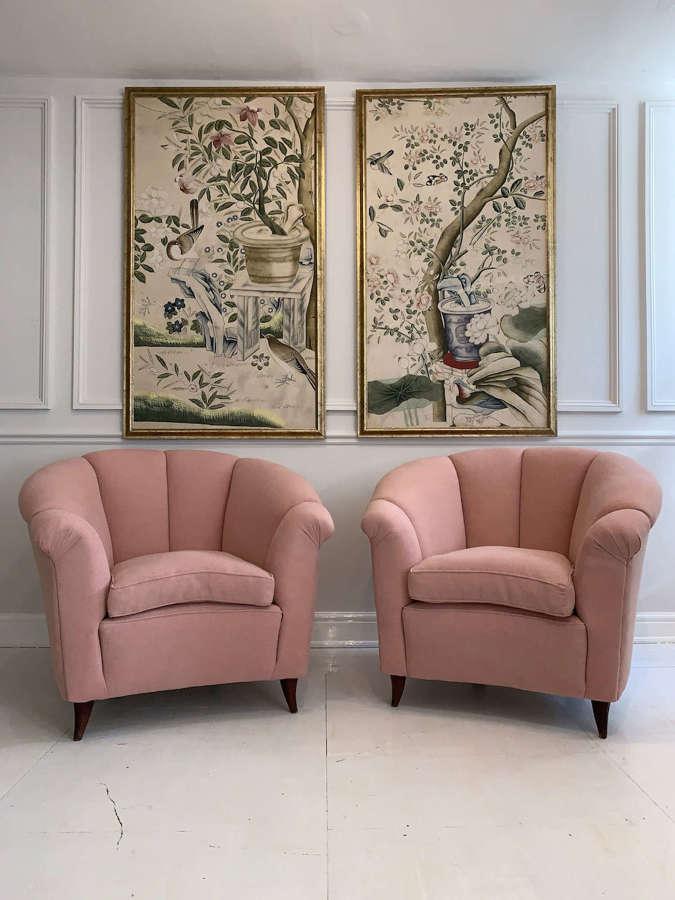 A pair of 1950's Italian armchairs